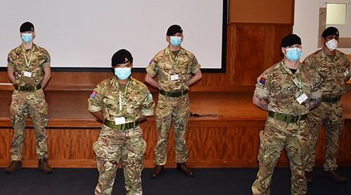 Military personnel from the 12th and 16th Royal Artillery have arrived at Eastbourne DGH to support portering and rapid response cleaning teams in the midst of the coronavirus crisis