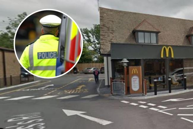 An unhappy customer called police when she could not get a breakfast at McDonalds in East Grinstead