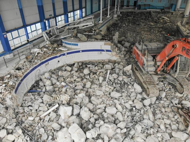 The Argus: Pool demolished at Butlin's resort in Bognor Credit: Eddie Mitchell