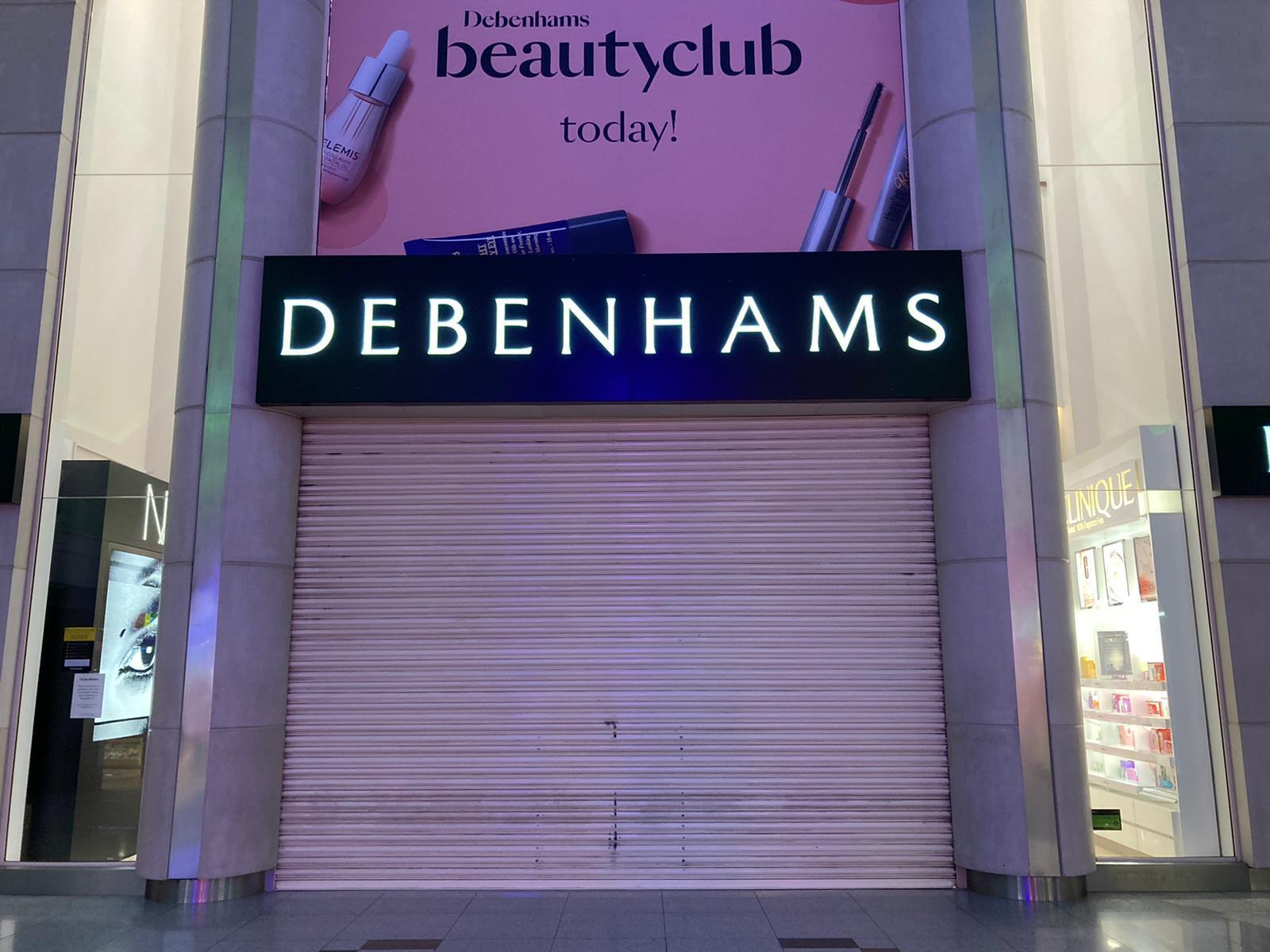The Debenhams store in Churchill Square, Brighton, will reopen for a short sale before closing for good