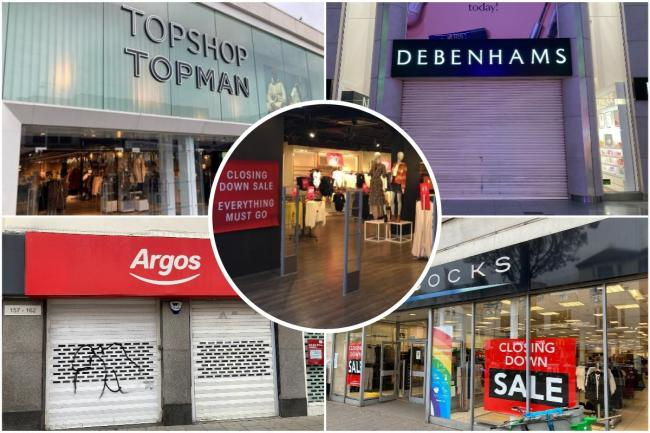 Topshop, Argos and Miss Selfridge are some of the major chain stores to close in Brighton