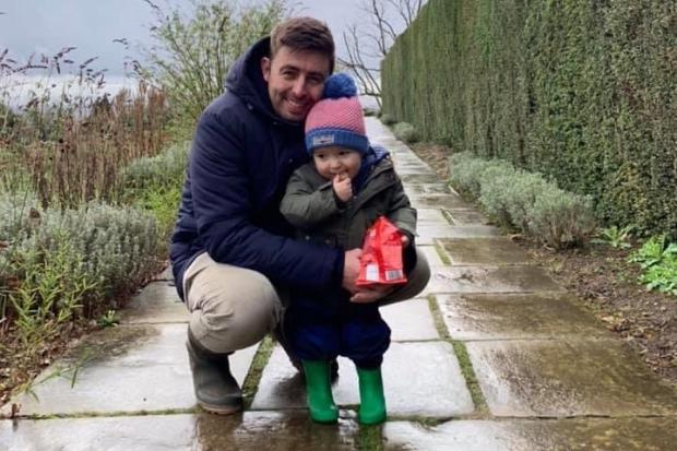 The Argus: James with his son Archie