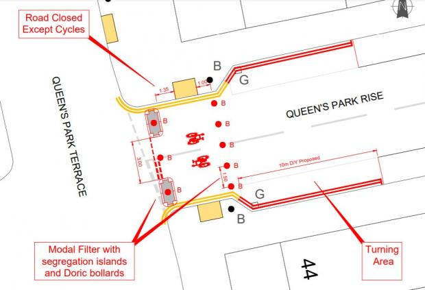 The Argus: A diagram showing the closure in Queen's Park Rise