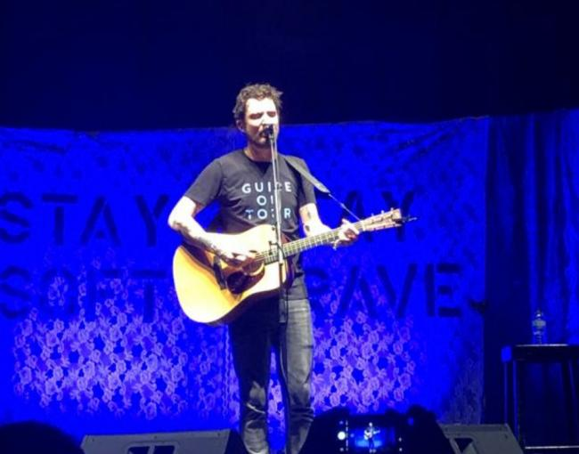 Frank Turner performing at Brighton Dome on March 4, 2020.