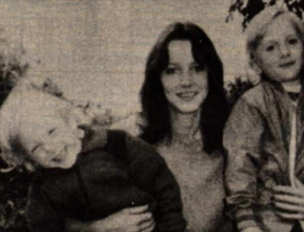 Sheila Caffell with her sons