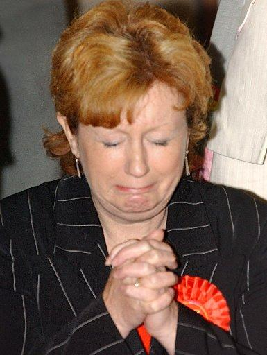 VICTORY: Ms Moffatt as she won the Crawley seat in 2005