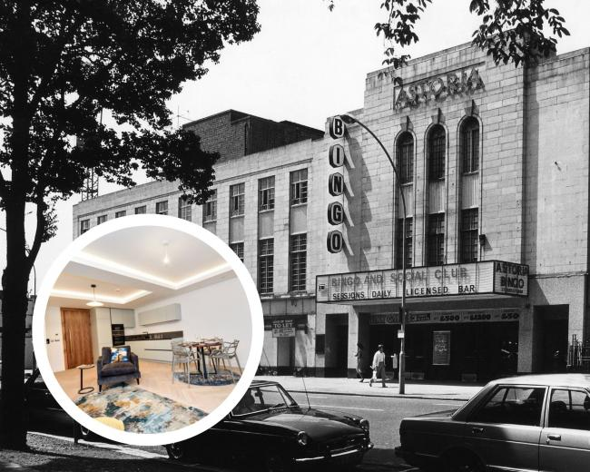 The demolished Astoria Theatre site is now home to the new Rox development (The Argus / All Rox images from Zoopla)