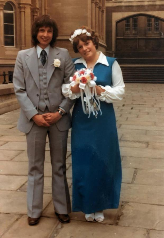 The Argus: My mum and dad pictured on their wedding day in June 1973
