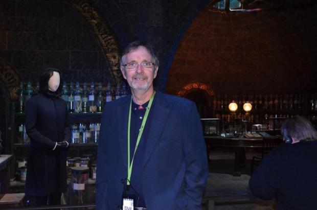 The Argus: My dad at the Harry Potter studio tour in Watford in September 2012