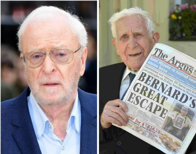 Michael Caine will play Bernard Jordan from Hove in The Great Escaper