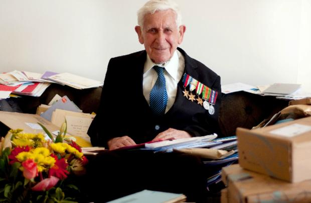 The Argus: Bernard Jordan escaped from his care home in Hove to pay his respects in Normandy