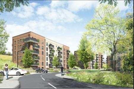 The Argus: Artist's impression of the development east of Coldean Lane, as part of the Homes for Brighton and Hove scheme