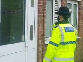 Partial Closure Orders are in place at two addresses in Sompting and Lancing. Neighbourhood police officers on patrol. Stock image.