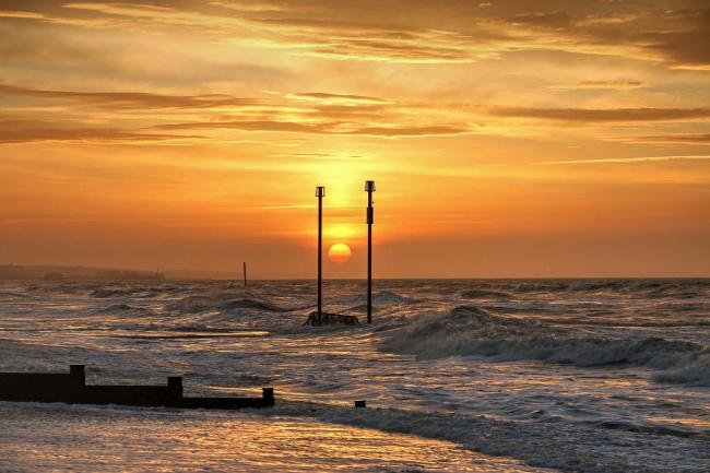 David Ashdown's sunrise over Southwick beach