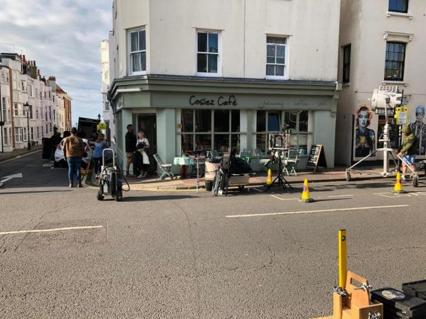 The Argus: Filming took place in Upper St James's Street, Brighton