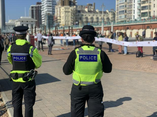 The Argus: Police watched on