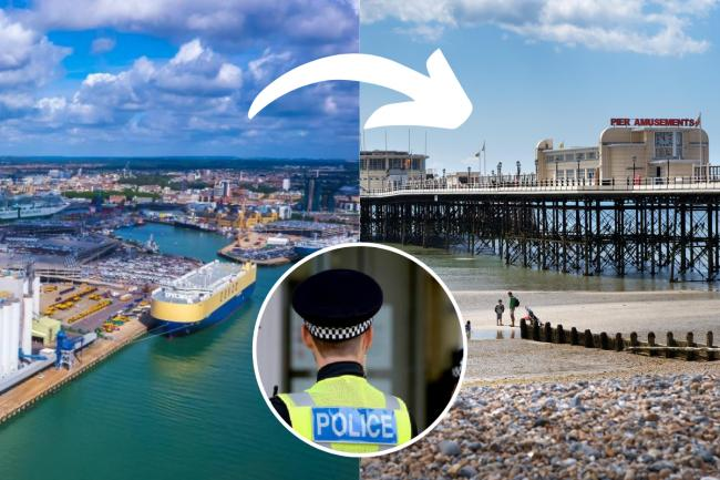 Two people from Southampton were slapped with Covid fines after driving to Sussex to 'see the sea'- police stock image