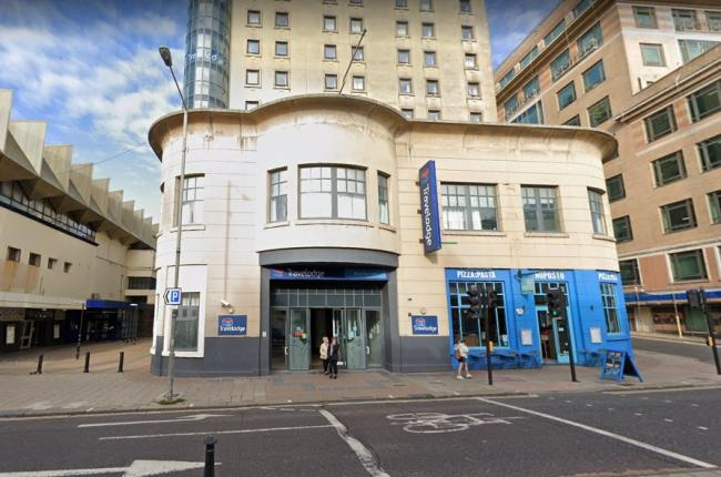 The Travelodge hotel in West Street, Brighton