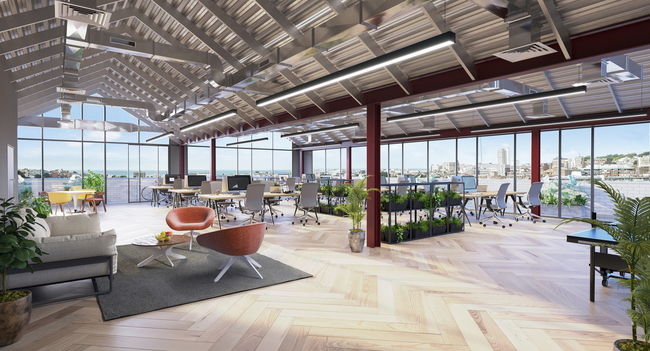 How offices will look at the top of the Circu Street development in Brighton
