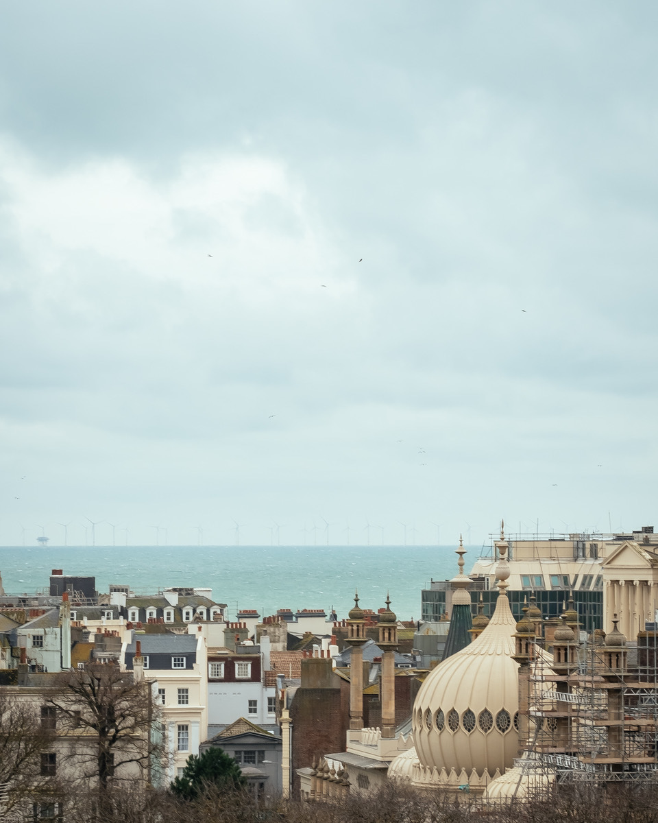 Views from the upper floors of the Circus Street development in Brighton Credit: Jim Stephenson