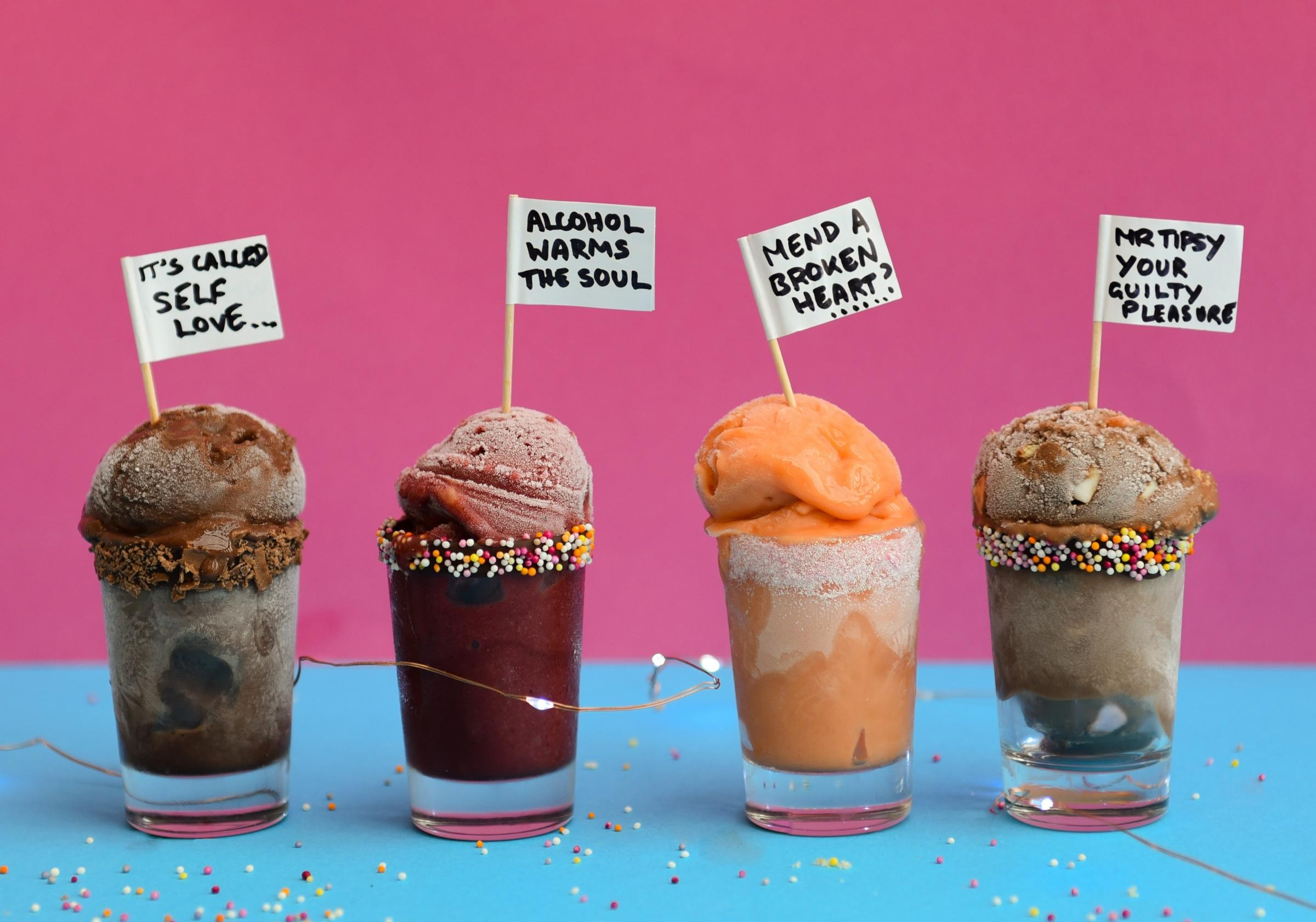 A selection of Mr Tipsy ice creams