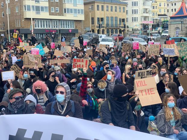 The Argus: Hundreds marched through the city streets