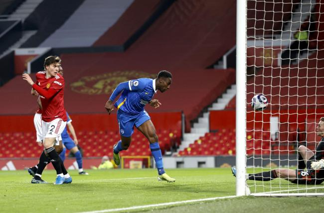 Danny Welbeck scores for Albion at Old Trafford