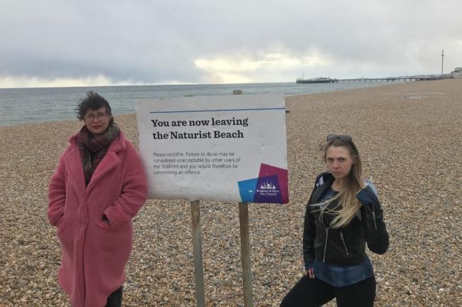 Bella Kirkus and Eva Wilshere are among the women calling for safeguarding measures at Brighton's naturist beach in Kemp Town