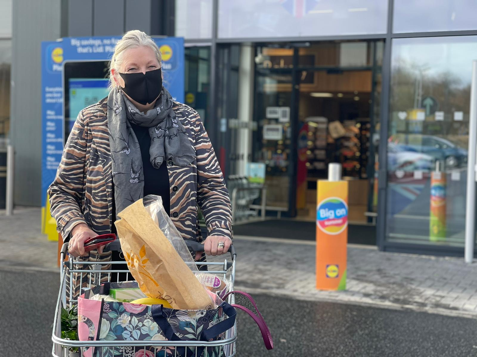 Shopper Tracey Gunes outside the new Lidl store at the Goldstone Retail Park in Hove