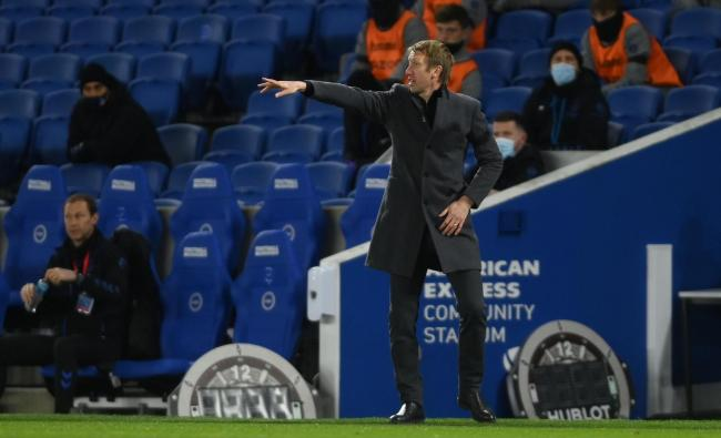 Albion head coach Graham Potter admits they were left a 'little bit frustrated' after they were held to a goalless draw against Everton