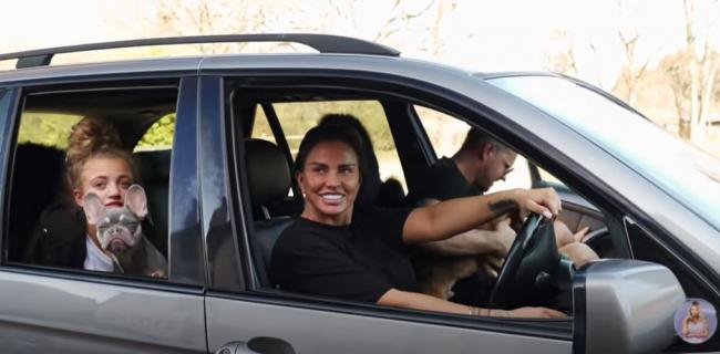 Katie Price was banned from driving for two years in 2019. (YouTube/Katie Price)
