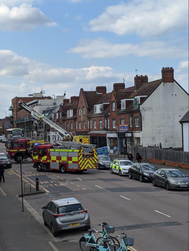 The Argus: Fire crews have been pictured at the scene in Portland Road