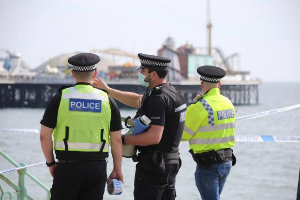 The Argus: Police shut part of Brighton beach yesterday. Photo: Eddie Mitchell