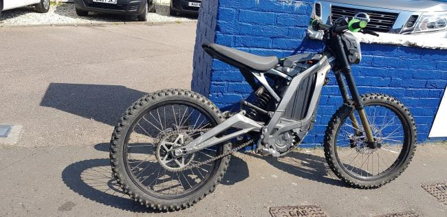 The bike seized by police in Worthing