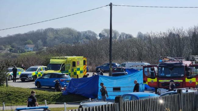 A man died after falling ill while playing golf at Peacehaven Golf Club in Newhaven Credit: @SussexIncidents