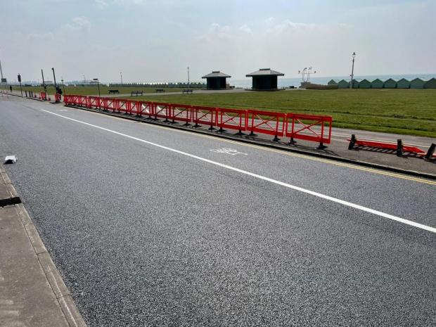 The Argus: The A259 cycle lane on Brighton seafront work is expected to be finished today