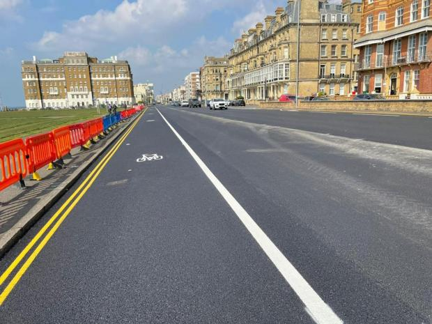 The Argus: The A259 cycle lane on Brighton seafront
