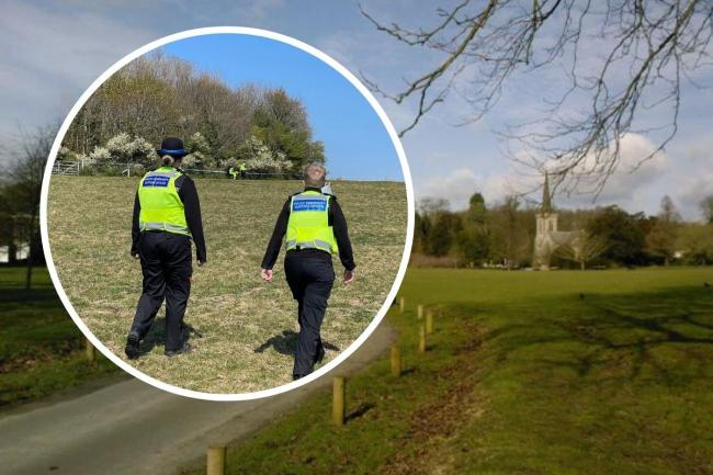 Police cordoned off a section of Stanmer Park today after a suspected unexploded bomb was found