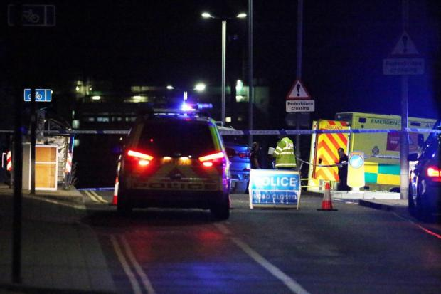 The Argus: Photos of the scene by Eddie Mitchell