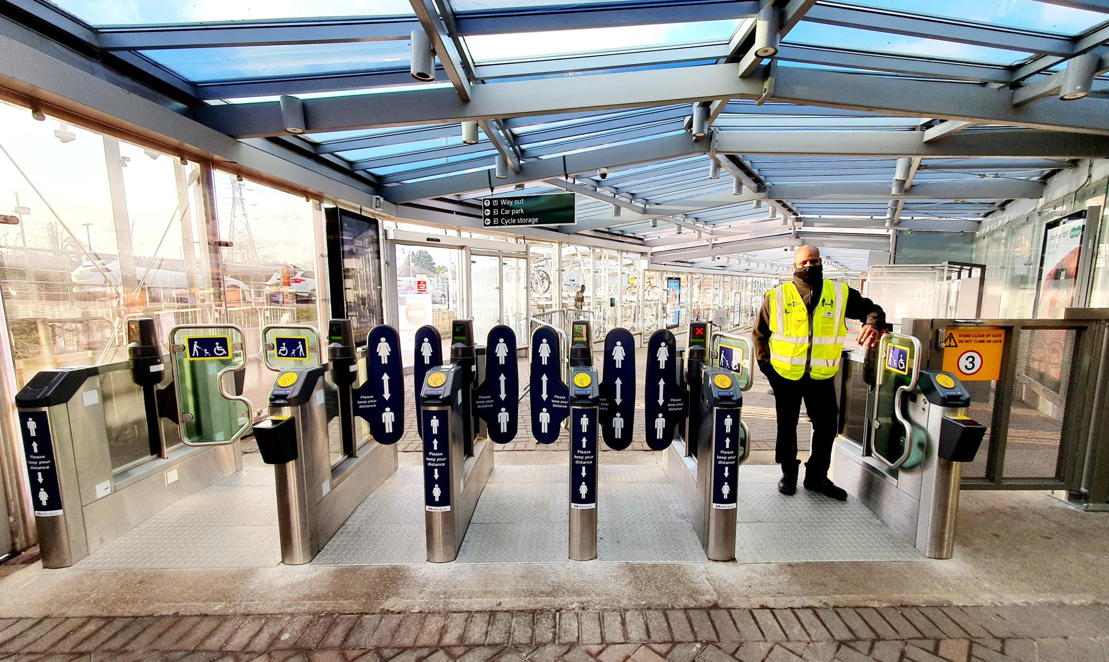 Better Accessibility - Three bridges have a wider extra door for wheelchair users and carts