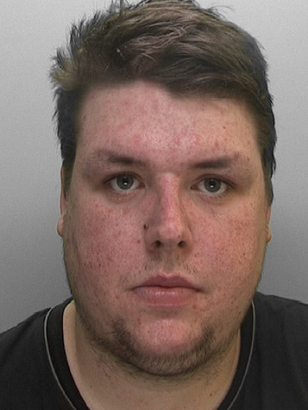 Nazi Tobias Powell was jailed for inciting racist hatred online, he has a massive Swastika and Nazi emblem tattoo on his leg, and taught his dog to do a Nazi salute