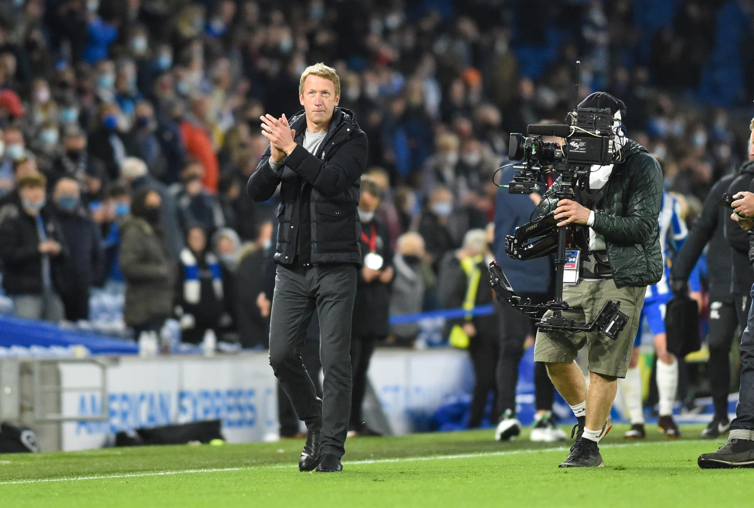 Brighton boss Graham Potter glad to see fans at the Amex