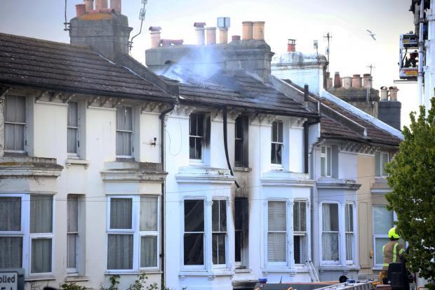 The Argus: Photos show the damage at the house in Shaftesbury Road, Brighton
