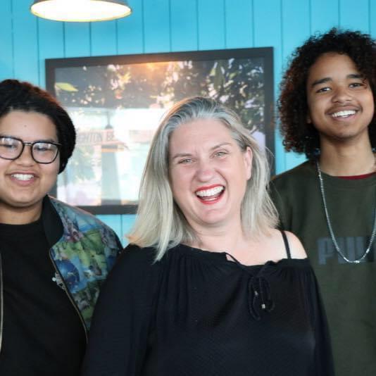 The Argus: Faith Windsor with her sons Nico and Khalil