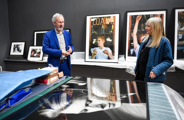 The Argus: Hedley Swain at the Brighton Museum ahead of the opening of the David Bowie exhibition