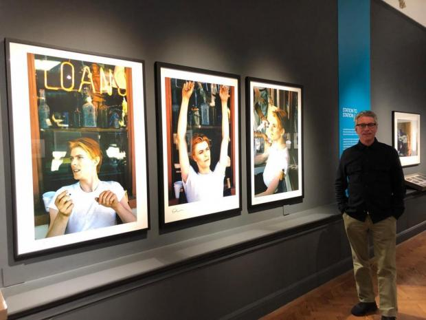 The Argus: Geoff MacCormack at the David Bowie exhibit at Brighton Museum