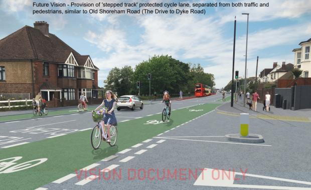 The Argus: The vision for an improved cycle lane on Old Shoreham Road