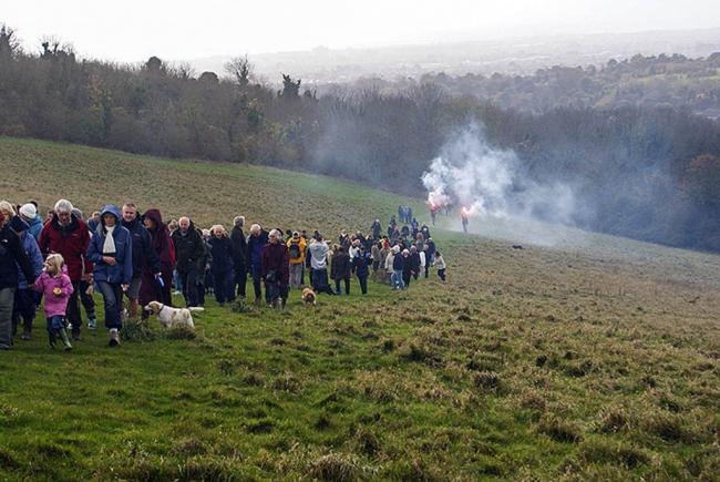 A mass trespass is due to take place on the Brighton Downs on Saturday, July 24