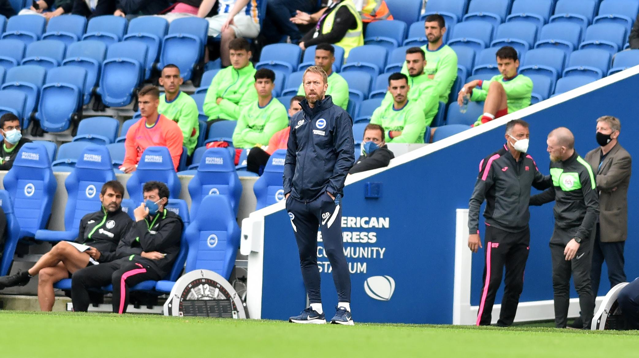 Graham Potter likes Brighton's options for new season