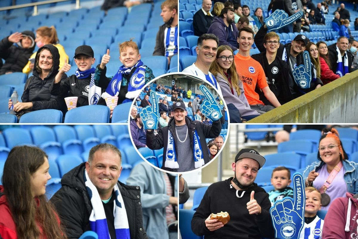 Brighton and Hove Albion fans welcomed back to the Amex